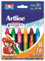 Artline Giant Duo Round Shaped Wax Washable Crayons (Set Of 1, Multicolor)