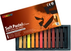 Mungyo General Soft Pastel Crayons - Set Of 12, Assorted Earthtone