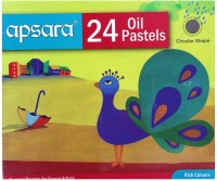 Apsara Young Artist Round Shaped Oil Pastel Crayons (Set Of 5, Multicolor)