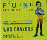 Navneet Fun Round Shaped Wax Washable Crayons (Set Of 2, Multicolor)