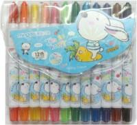 Mingda Round Shaped Plastic Crayons (Set Of 1, Blue)