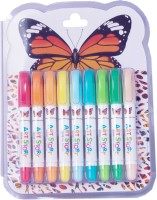 Dloop Art Story Round Shaped Gel Washable Crayons (Set Of 1, Multicolor)