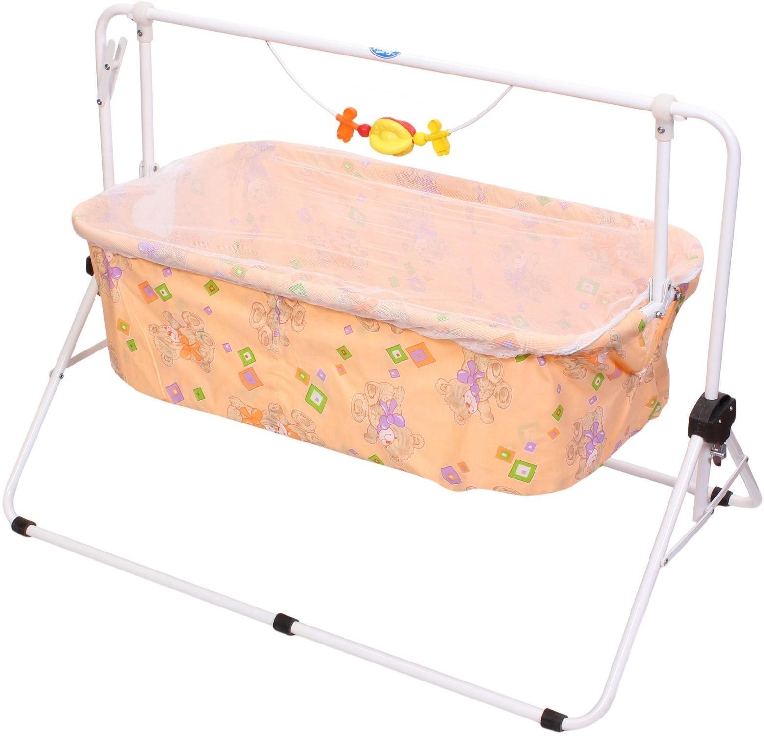 Crib for babies online india - New Natraj Baby Cradle Peach