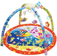 Toys Bhoomi Twist And Fold Happy Ocean Melodies & Lights Baby Activity Gym - Newborn Playmat (Multicolor)