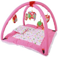 CHHOTE JANAB BABY PLAY GYM WITH MOSQUITO NET (Pink, White)