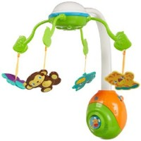 Bright Starts Bright Starts Soothing Safari 2 In 1 Mobile (Multicolor)