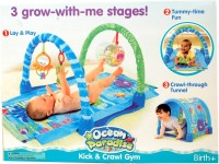 Tiny Mynee 3 Way Kick & Crawl Play Gym With Innovative Tunnel Hood (Multicolor)