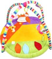 Ole Baby Plushy Giraffee Twist And Fold Musical Activity Play Gym-Newborn Playmat (Multicolor)