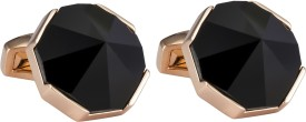 Knighthood Enamel Cufflink Black-Gold