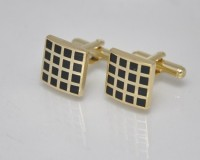 Big Five Deals Designer Brass Cufflinks - Black, Gold - CTPDMCSVYVSYAGFB