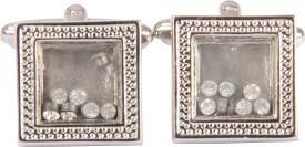 Satya Paul Metal Alloy Cufflink Silver