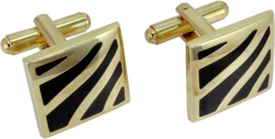 Vendee Fashion Party Wear Fashion Designer Brass Cufflink Black