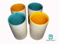 Buyer's Beach High Quality Colored Chai Glass (K) Set Of 4, 180 Ml (Multicolor)