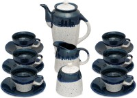 Caffeine Handmade Studio Kettle White Studio Tea Set (White, Pack Of 15)