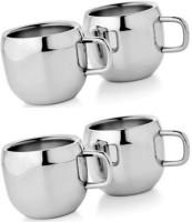 Mosaic Tea Cup Qute 6 Pcs Set (Silver)