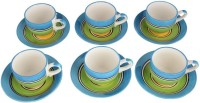 LUCINA LUCINA Tea Cup And Saucer Bone China -Set Of 12 17 (Multicolor, Pack Of 12)