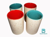 Buyer's Beach High Quality Colored Chai Glass (E) Set Of 4, 180 Ml (Multicolor)