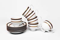 Lakline Lakline Porcelain Cups & Saucers - 80152 (White, Pack Of 12) 80152 (White, Pack Of 12)