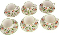 LUCINA LUCINA Tea Cup And Saucer Bone China -Set Of 12 22 (Multicolor, Pack Of 12)