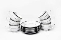 Lakline Lakline Porcelain Cups & Saucers - 80156 (White, Pack Of 12) 80156 (White, Pack Of 12)