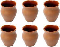 Elite Handicrafts Brown Color Ceramic Kulhar Tea Cups Set Of 6 - Best For Self Use; And Diwali, Dhanteras & Festive Gifts EHCC0176 (Brown, Pack Of 6)