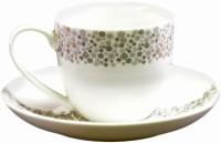 Tibros -13 Pcs Bone China -Tea Set Trc303 (White, Pack Of 12)