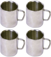 Dynamic Store Set Of 4 Double Wall Small Sober Cups DS_155 (Steel, Pack Of 4)