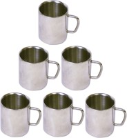 Dynamic Store Set Of 6 Double Wall Big Sober Mugs DS_111 (Steel, Pack Of 6)