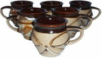 Buyer's Beach Brown Mataki With Handle Set Of 6 (Brown, Pack Of 6)