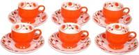 Elite Handicrafts EHCC073 (Orange, Pack Of 12)