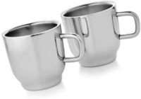 Dynamic Store Set Of 2 Double Wall Classic Cups DS_141 (Steel, Pack Of 2)