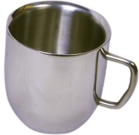Dynamic Store Set Of 2 Double Wall Large Cappucino Mugs DS_149 (Steel, Pack Of 2)