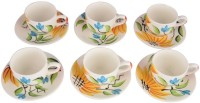 LUCINA LUCINA Tea Cup And Saucer Bone China -Set Of 12 5 (Multicolor, Pack Of 12)