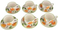 LUCINA LUCINA Tea Cup And Saucer Bone China -Set Of 12 9 (Multicolor, Pack Of 12)
