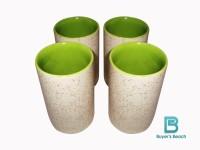 Buyer's Beach High Quality Colored Chai Glass (J) Set Of 4, 180 Ml (Green)