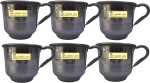 SSA Stainless steel 6 mug for tea serving purpose