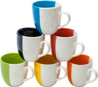 Elite Handicrafts Classy Look Fancyware Tea Cups Set Of 6 - Best For Self Use; And Diwali, Dhanteras & Festive Gifts EHCC0164 (Multicolor, Pack Of 6)