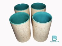 Buyer's Beach High Quality Colored Chai Glass (I) Set Of 4, 180 Ml (Blue)