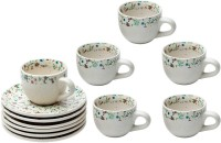 Elite Handicrafts Boutique Design Tea Cups & Saucers EHCC0172 (White, Pack Of 12)