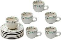 Elite Handicrafts Boutique Design Tea Cups & Saucers EHCC0172 (White, Pack Of 12)