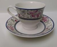 BHARAT Home Tableware Serving Printed Tea Set VCUP001 (Blue, Pack Of 12)