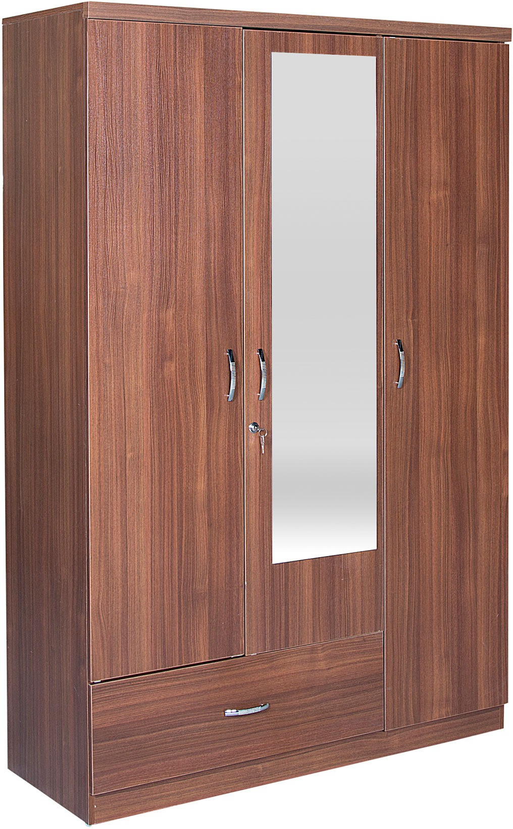 Hometown Ultima 3 Door With Mirror Rwlnt Engineered Wood Almirah available at Flipkart for Rs.13410