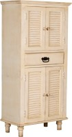 Rishabh Art Solid Wood Cupboard (Finish Color - White)