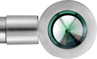 Windows Classic Green, Silver Curtain Poles Pack Of 2