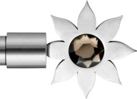 Windows Classic Sunflower Crystal Design Curtain Poles (Pack Of 2)