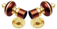 Homeproducts4u Maroon Curtain Poles Pack Of 2