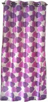Trendy Home Polyester Purple Door Curtain 210 Cm In Height, Single Curtain