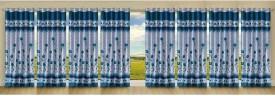 Stella Creations Polyester Light Blue Printed Eyelet Long Door Curtain