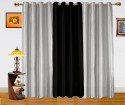 Dekor World Enticing Plain Window Curtain - Pack Of 3