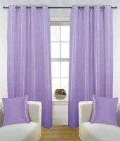 Fabutex Polyester Lavender Solid Door Curtain 210 Cm In Height, Pack Of 2